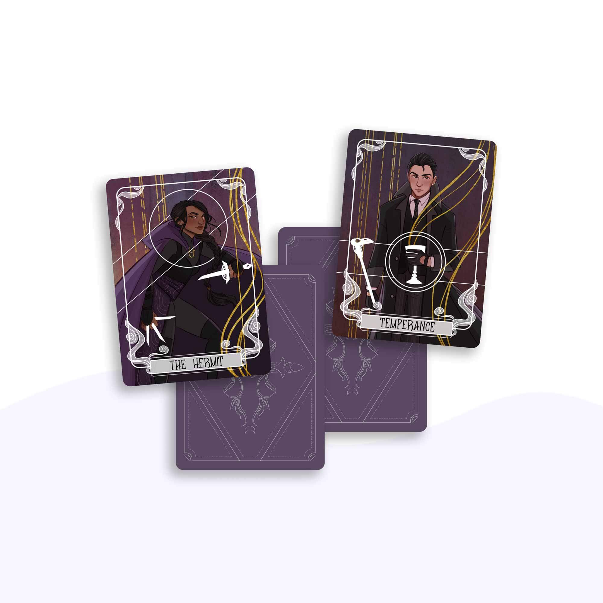 The Hermit & Temperance Tarot Cards