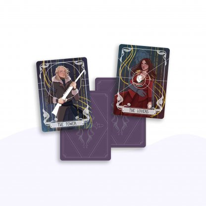 The Tower & The Lovers Tarot Cards